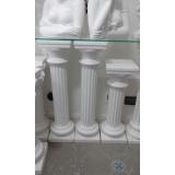 coluna de gesso romana Cidade Dutra