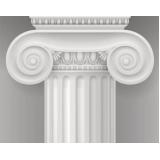 colunas gregas de gesso Jurubatuba