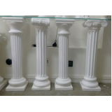 colunas romanas de gesso Vila Suzana