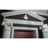 quem faz coluna de gesso para decoração Jardim Ângela